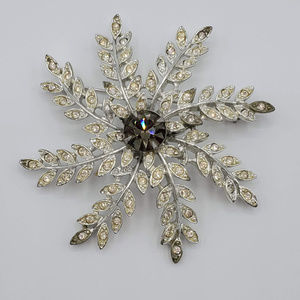 Sarah Coventry Winter Snowflake Rhinestone Brooch